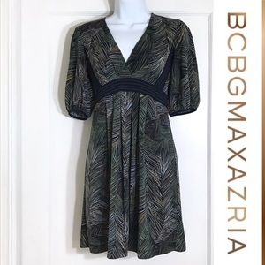 BCBG MazAzria dress with tropical print Size Xxs